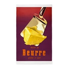 Butter, Beurre, French, Vintage Poster 3'x5' Area