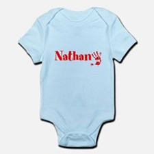 Red Personalized Name Body Suit