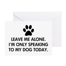 Leave me alone today dog Greeting Cards (Pk of 20)