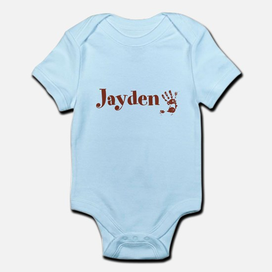 Brown Personalized Name Body Suit