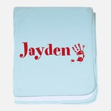 Brown Personalized Name baby blanket