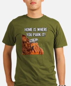 Home Is Where You Par Organic Men's T-Shirt (dark)