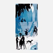 #1 Art Deco Midnight Lovers Vald'Es, Beach Towel