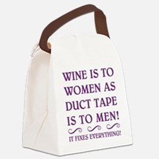 WINE IS... Canvas Lunch Bag