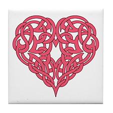 CELTIC HEART-PINK Tile Coaster