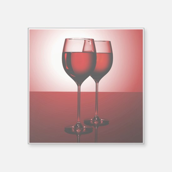 "WINE IS... Square Sticker 3"" x 3"""