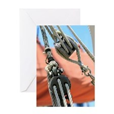 Block and Tackle Greeting Card