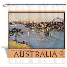 Australia, Sydney Harbour, Vintage Poster Shower C