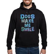Dogs Make Me Smile T-Shirt Design Hoodie