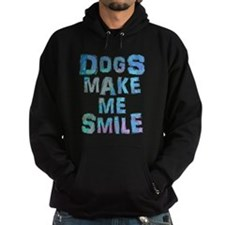 Dogs Make Me Smile T-Shirt Design Hoody
