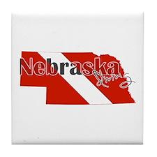 Nebraska Diver Tile Coaster