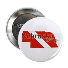 "Nebraska Diver 2.25"" Button"