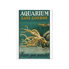 Aquarium, Octopus, London, Vintage Poster 5'X7'are