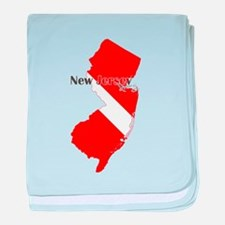 New Jersey Diver baby blanket