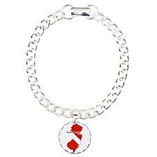 New Jersey Diver Charm Bracelet, One Charm