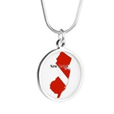 New Jersey Diver Silver Round Necklace