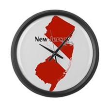 New Jersey Diver Large Wall Clock