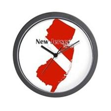 New Jersey Diver Wall Clock