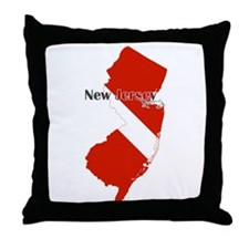 New Jersey Diver Throw Pillow