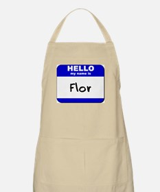 hello my name is flor  BBQ Apron