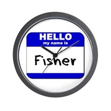 hello my name is fisher  Wall Clock