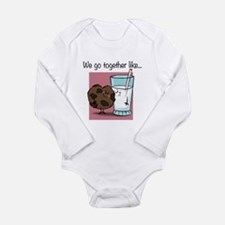 Cookies and Milk Long Sleeve Infant Bodysuit