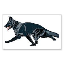 German shepherd black Decal