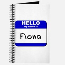 hello my name is fiona Journal
