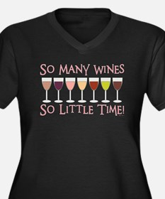 SO MANY WINE Women's Plus Size V-Neck Dark T-Shirt