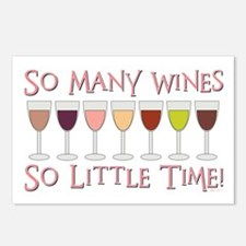 SO MANY WINES... Postcards (Package of 8)