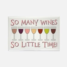 SO MANY WINES... Rectangle Magnet