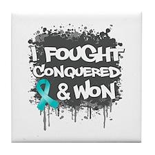 Ovarian Cancer Fought Won Tile Coaster