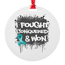 Ovarian Cancer Fought Won Ornament