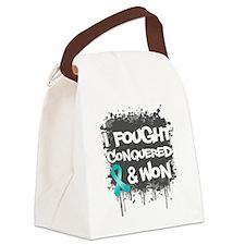 Ovarian Cancer Fought Won Canvas Lunch Bag