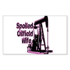 Spoiled Oilfield Wife Jewelry Decal