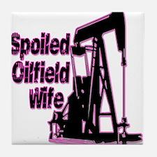 Spoiled Oilfield Wife Jewelry Tile Coaster