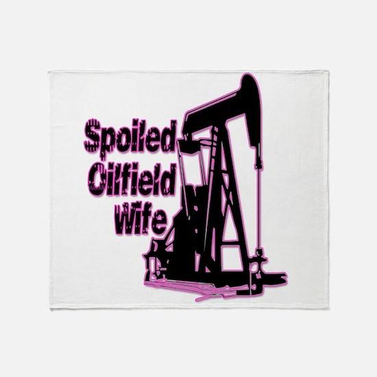 Spoiled Oilfield Wife Jewelry Throw Blanket