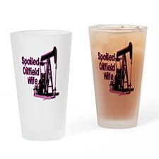 Spoiled Oilfield Wife Jewelry Drinking Glass