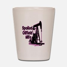 Spoiled Oilfield Wife Jewelry Shot Glass
