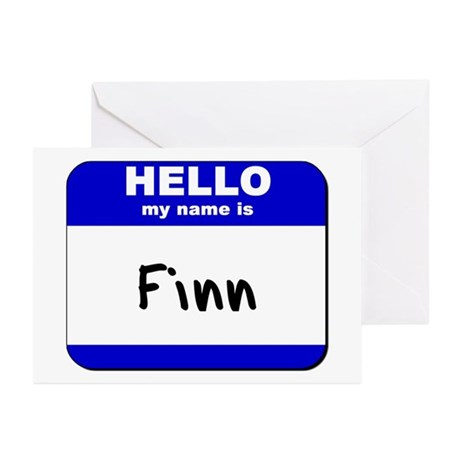 hello my name is finn Greeting Cards (Package of
