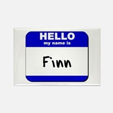 hello my name is finn Rectangle Magnet