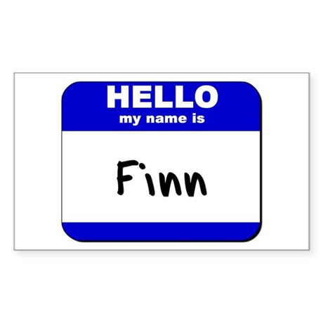 hello my name is finn Rectangle Sticker