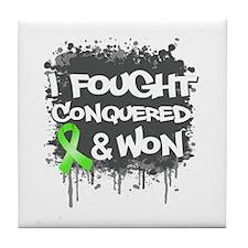 Non-Hodgkins I Fought Won Tile Coaster
