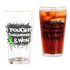 Non-Hodgkins I Fought Won Drinking Glass