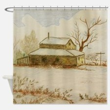 Winter Cabin Shower Curtain Shower Curtain