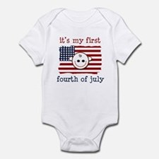 It's my first fourth of july Infant Bodysuit