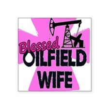 Pink Blessed Oilfield Wife With Cross Sticker