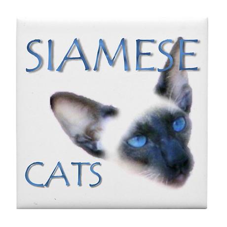 Tile Coaster - Siamese cats