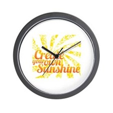 Create Sunshine Wall Clock