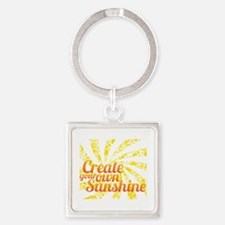 Create Sunshine Square Keychain